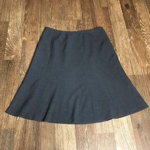Calvin Klein dark gray a-line skirt